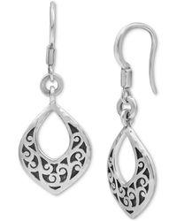 Lois Hill Scrollwork Drop Earrings In Sterling Silver - Metallic