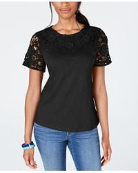Charter Club Cotton Embellished Bees Shirt