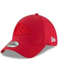 ed6d8a340 KTZ - Kansas City Chiefs Official Color Rush 39thirty Stretch Fitted Cap -  Lyst