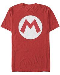 Fifth Sun Super Mario Big M Logo Costume Short Sleeve T-shirt - Red