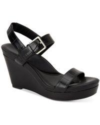 Calvin Klein - Jacie Strappy Sandals - Lyst