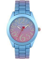 Betsey Johnson - Purple & Blue Stainless Steel Case Watch - Lyst
