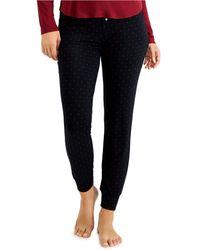 Alfani Essentials Ultra-soft Knit Jogger Pyjama Pants, Created For Macy's - Black