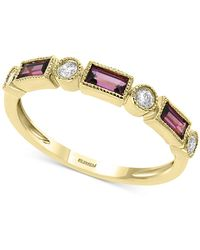 Effy Effy® Rhodolite Garnet (1/2 Ct. T.w.) & Diamond (1/8 Ct. T.w.) Ring In 14k Gold - Metallic