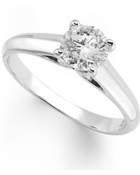 X3 - Certified Diamond Solitaire Ring In 18k White Gold (1/2 Ct. T.w.) - Lyst