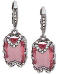 Jenny Packham - Hematite Crystal & Stone Drop Earrings - Lyst