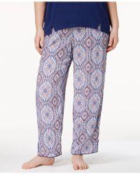 Alfani - Plus Size Woven Printed Pyjama Trousers, Created For Macy's - Lyst