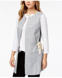 Kensie | Tweed Tie-detail Vest | Lyst