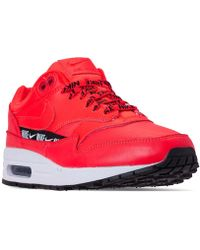 super popular ed56c 6f1b8 Recently sold out. Nike - Air Max 1 Se Running Sneakers From Finish Line -  Lyst