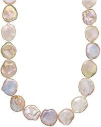 Macy's - Sterling Silver Pink Keshi Pearl Necklace (12-15mm) - Lyst