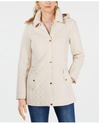Jones New York Hooded Quilted Coat - Multicolour