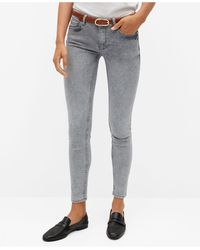 Mango Kim Skinny Push-up Jeans - Gray