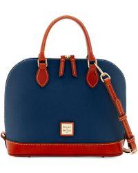 Dooney & Bourke - Pebble Leather Zip Zip Satchel - Lyst