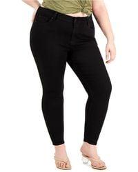 Celebrity Pink Trendy Petite Plus Size Skinny Jeans - Black
