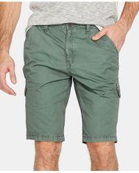 Buffalo David Bitton Howan Cargo Shorts - Green