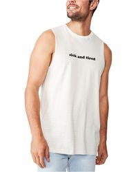 Cotton On Tbar Muscle Tank Top - White
