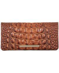 Brahmin - Ady Melbourne Croc Embossed Leather Wallet - Lyst