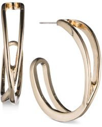 Nine West - Openwork J-hoop Earrings - Lyst