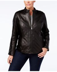 Jones New York - Plus Size Quilted Leather Jacket - Lyst
