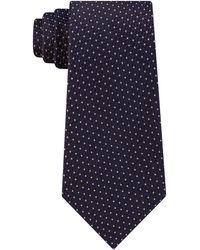Michael Kors Cubic Pindot Geometric Silk Tie - Brown