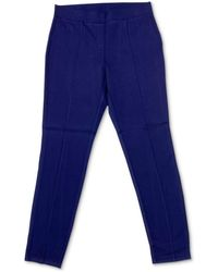 Style & Co. Petite Seam-front Pull-on Pants, Created For Macy's - Blue