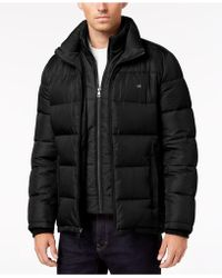 Calvin Klein Full-zip Puffer Coat, Created For Macy's - Black