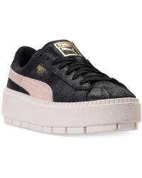 6f2bea493b8 Lyst - Puma Suede Platform Trace Buckle Casual Sneakers From Finish ...
