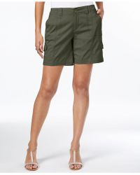 Style & Co. Comfort-waist Cargo Shorts - Green