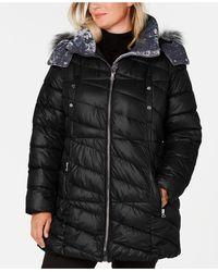 Marc New York - Plus Size Hooded Faux-fur-trim Puffer Coat - Lyst