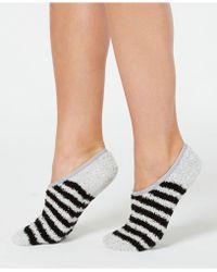 Charter Club Colorblocked Fuzzy Cozy Socks, Created For Macy's - Black