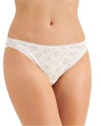 Charter Club Garden Bikini Underwear, Created For Macy's - White