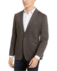 Kenneth Cole Reaction Slim-fit Stretch Knit Sport Coat - Grey