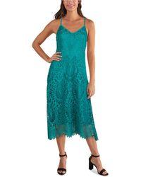 Guess Lace Midi Dress - Green