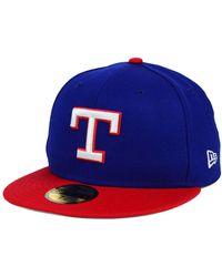 KTZ - Texas Rangers Mlb Cooperstown 59fifty Cap - Lyst