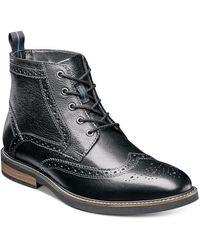 Nunn Bush Odell Wingtip Chukka Boots - Black