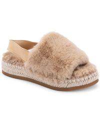 Dolce Vita Keya Plush Espadrille Slippers - Natural