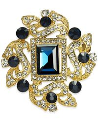 Charter Club Gold-tone Crystal Pin, Created For Macy's - Metallic