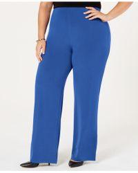 f764e30ef1f Lyst - Alfani Plus Size Printed Knit Wide-leg Pants