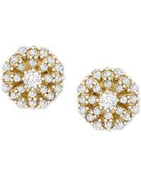 Wrapped in Love ? Diamond Cluster Stud Earrings (1/4 Ct. T.w.) In 14k Gold, Created For Macy's - Metallic
