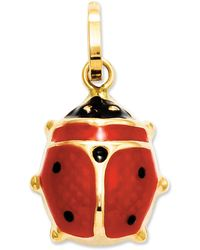 Macy's - 14k Gold Charm, Red Enamel Ladybug Charm - Lyst