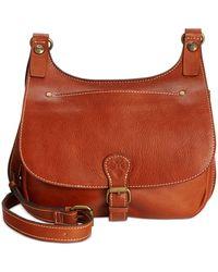 Patricia Nash London Smooth Leather Saddle Bag - Brown
