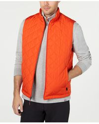 Hawke & Co. Quilted Vest, Created For Macy's - Orange