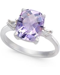 Macy's Pink Amethyst (2-7/8 Ct. T.w.) & Diamond Accent Statement Ring In Sterling Silver - Metallic