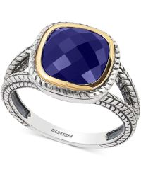 Effy Collection - Lapis Lazuli Ring (2-3/4 Ct. T.w.) In Sterling Silver And 18k Gold - Lyst