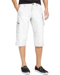 INC International Concepts Patrick Messenger Shorts, Created For Macy's - White