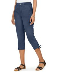 Style & Co. Tie-hem Capri Pants, Created For Macy's - Blue