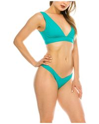 Kendall + Kylie Plunge 2 Piece Swimsuit - Blue