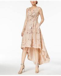 Calvin Klein - Sequined High-low Gown - Lyst