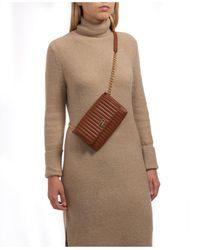 Vince Camuto Vertical Stitch Convertible Belt Bag - Brown