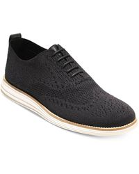 Cole Haan Original Grand Stitchlite Wingtip Oxford Lace Up Casual Shoes - Black